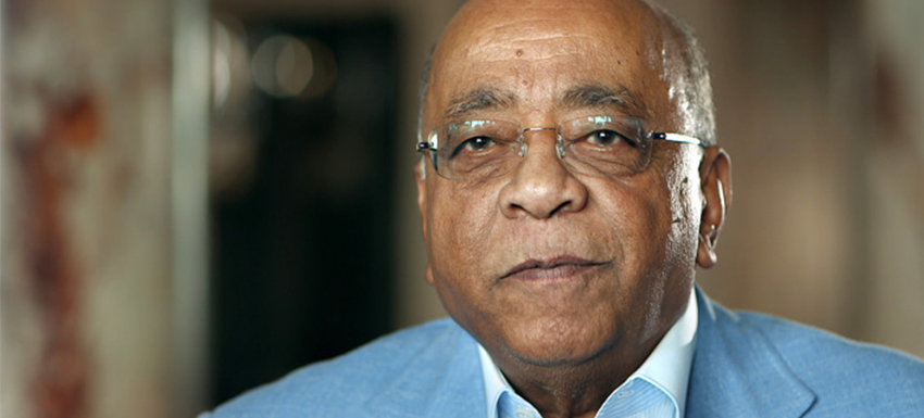 Mo Ibrahim at an interview with NHK